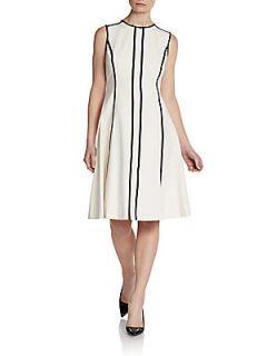 Sleeveless Colorblock Dress   Cream Black