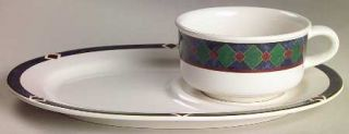 Pfaltzgraff Amalfi Classic Snack Tray & Soup Mug Set, Fine China Dinnerware   Na