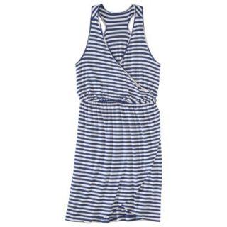 Merona Petites Sleeveless V Neck Dress   Blue/Cream MP