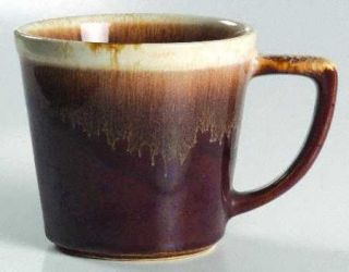 Nelson McCoy Brown Drip Mug, Fine China Dinnerware   Dark Brown Drip Design
