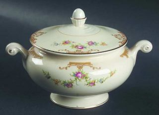 Homer Laughlin  Aristocrat Sugar Bowl & Lid, Fine China Dinnerware   Eggshell Na