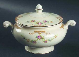 Homer Laughlin  Aristocrat Sugar Bowl & Lid, Fine China Dinnerware   Eggshell Na