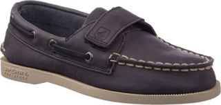 Boys Sperry Top Sider A/O H&L   Navy Full Grain Leather Casual Shoes