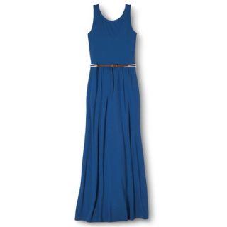 Merona Womens Maxi Dress w/Belt   Influential Blue   XXL