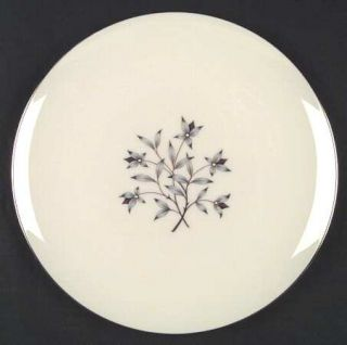 Lenox China Princess Dinner Plate, Fine China Dinnerware   Gray & Tan Floral Cen
