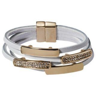 Capsule by C ra Multi Wrap Bracelet with Metal Bars and Rhinestone Studs