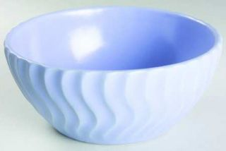 Dansk Tsunami Blue Coupe Soup Bowl, Fine China Dinnerware   All Blue, Embossed W