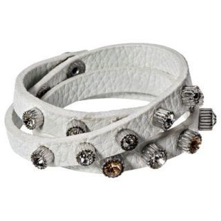 Capsule by C ra Multi Wrap Bracelet with Rhinestone Studs   Pink