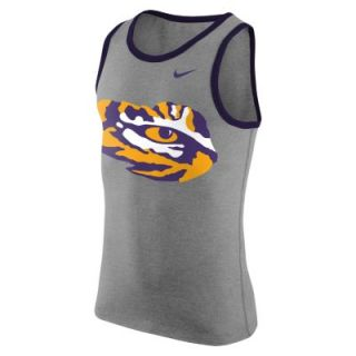 Nike College Logo (LSU) Mens Tank Top   Dark Grey Heather