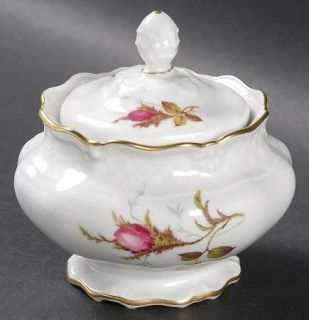 Royal Heidelberg Rose Brier (White) Mini Sugar Bowl & Lid, Fine China Dinnerware