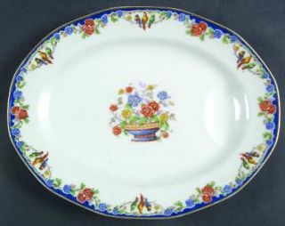 Haviland Garden Of Allah 11 Oval Serving Platter, Fine China Dinnerware   Theo,