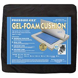 Hudson Pressure Eez Gel/ Foam 22 X 18 X 2 Inch Wheelchair Seat Cushion