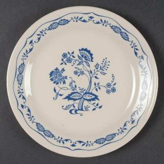 Corning Blue Floral Salad Plate, Fine China Dinnerware   Corelle,Blue Floral,Tan