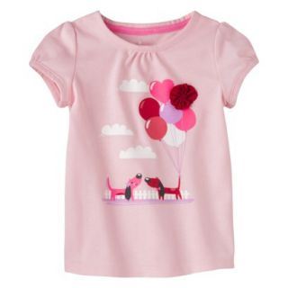 Circo Infant Toddler Girls Short sleeve Tee Shirt   Pouty Pink 3T