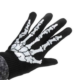 Hot Sale Skeleton Bones Sports Full Finger Anti slip Exercising Gloves