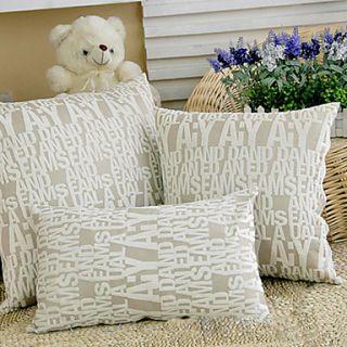 Modern English Letters Pattern Decorative Pillow With Insert
