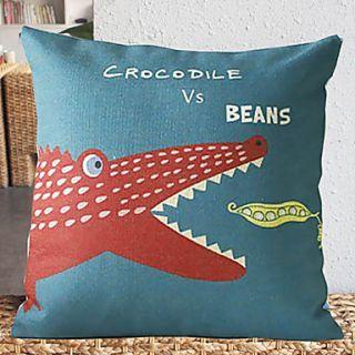 Cute Cartoon Crocodile Pattern Decorative Pillow Cover