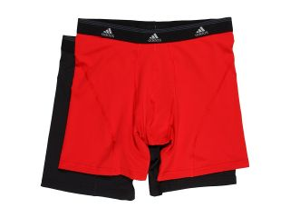 adidas Sport Performance ClimaLite 2 Pack Boxer Brief Mens Underwear (Red)
