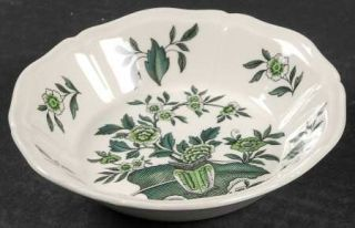 Wedgwood Green Leaf (QueenS Shape) Fruit/Dessert (Sauce) Bowl, Fine China Dinne
