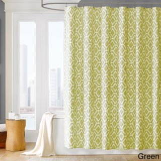 Madison Park Ella Geometric Shower Curtain