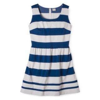 Merona Womens Plus Size Short Sleeve Ponte Dress   Black/Cream X