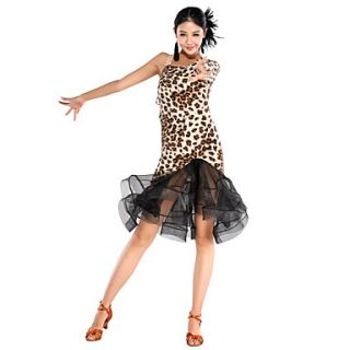 Fascinating Performance Viscose And Tulle Latin Dance Dress For Ladies