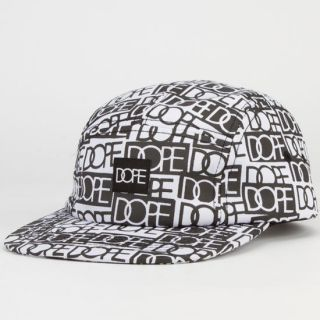 Sticker Bomb Mens 5 Panel Hat Black/White One Size For Men 235970125