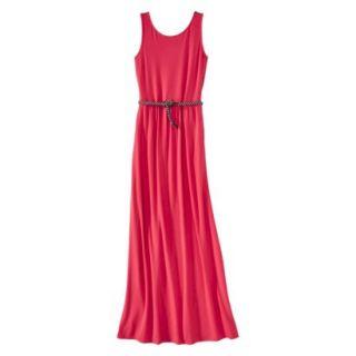 Merona Womens Maxi Dress w/Belt   Blazing Coral   S