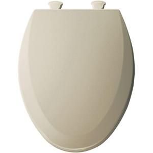 Bemis 1500EC006 Toilet Seat, Easy Clean amp; Change Elongated Closed Front Molded Wood Bone