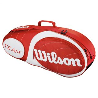 Wilson Team 3 Pack Tennis Bag Red and White