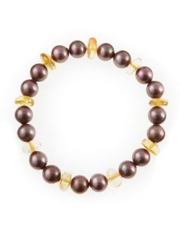 Aubergine Pearl Bracelet