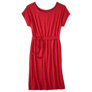 Merona Womens Knit Belted Dress   Wowzer Red   XL