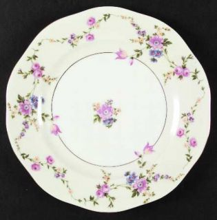 Baronet Juliet Dinner Plate, Fine China Dinnerware   Multicolor Flowers & Swags,