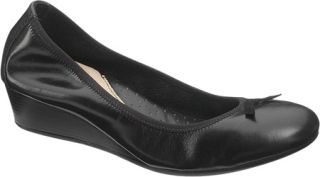 Womens Hush Puppies Candid Pump   Black Leather Casual Shoes