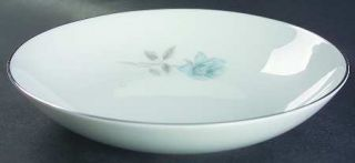 Noritake Simone Coupe Soup Bowl, Fine China Dinnerware   Blue Rose, Coupe, Plati