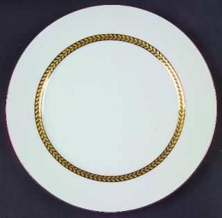 Sabatier Imperial Gold Dinner Plate, Fine China Dinnerware   Gold Laurel Band Ar
