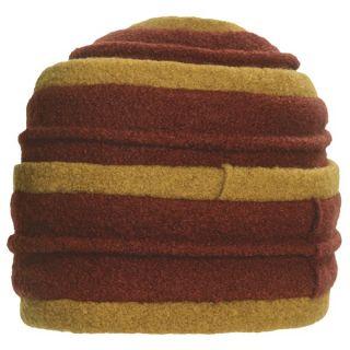 Asian Eye Coraline Turban Hat   Boiled Wool (For Women)   RED/BLACK ( )
